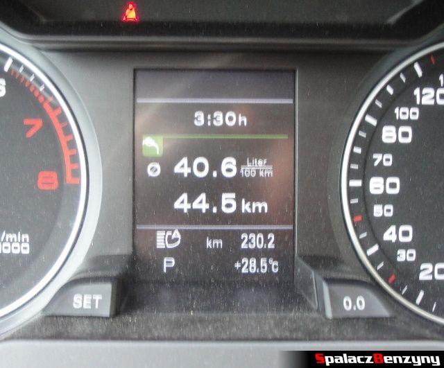 40 litrów na 100 km