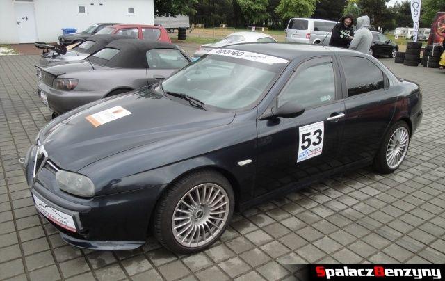 Alfa Romeo 156 czarna na TPTD 25 maj 2013