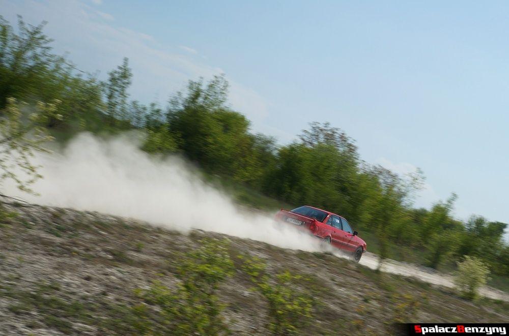 Audi 80 quattro czerwone na szutrowy RS Chełm 1 maja 2014