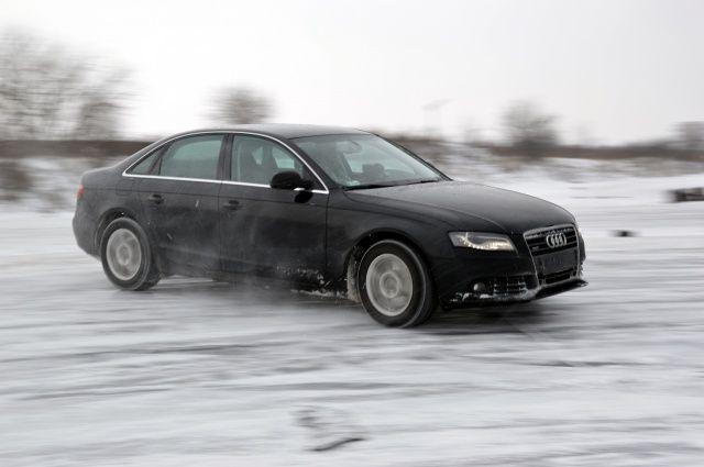 Audi A4 quattro snow fun