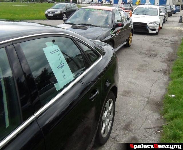 Audi A4, Subaru Impreza i Lancer Evo na na Rally Sprint w Biłgoraju 13 maj 2012