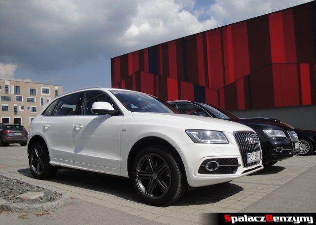 Audi Q5 3.0 TFSI i 2.0 TDI na parkingu hotelowym