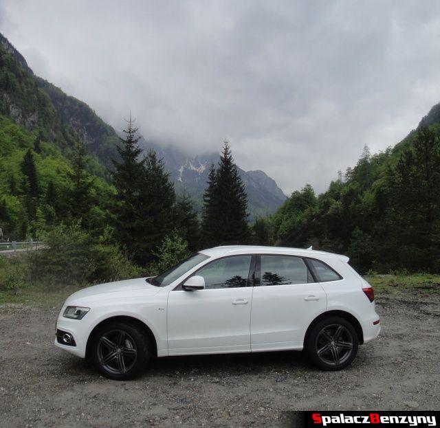 Audi Q5 3.0 TFSI na zjeździe w górach