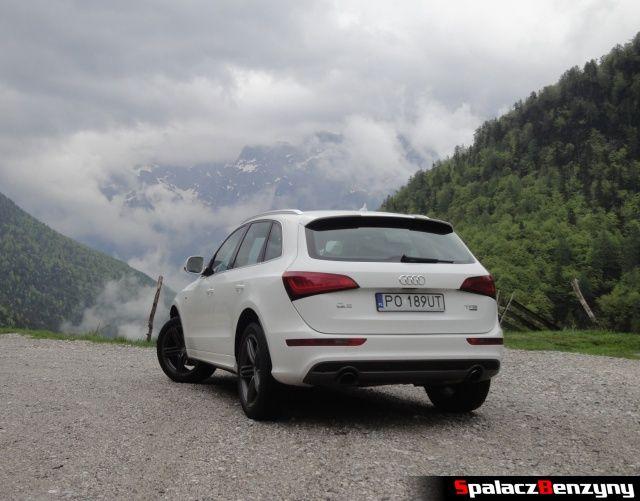 Audi Q5 3.0 TFSI przy górskiej drodze