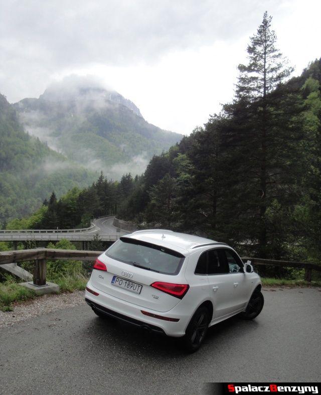Audi Q5 3.0 TFSI w zakręcie w górach