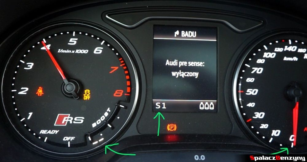 Audi RS3 launch control boost