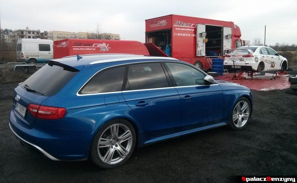 Audi RS4 i Lancer Evo na Kryterium Asów 2013