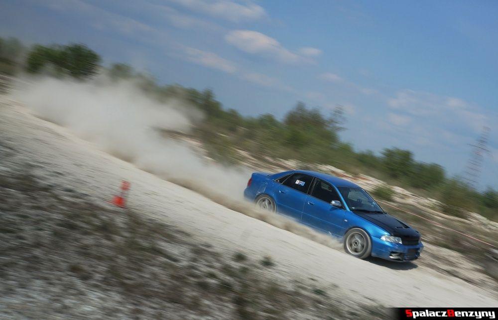 Audi S4 niebieskie na szutrowy RS Chełm 1 maja 2014