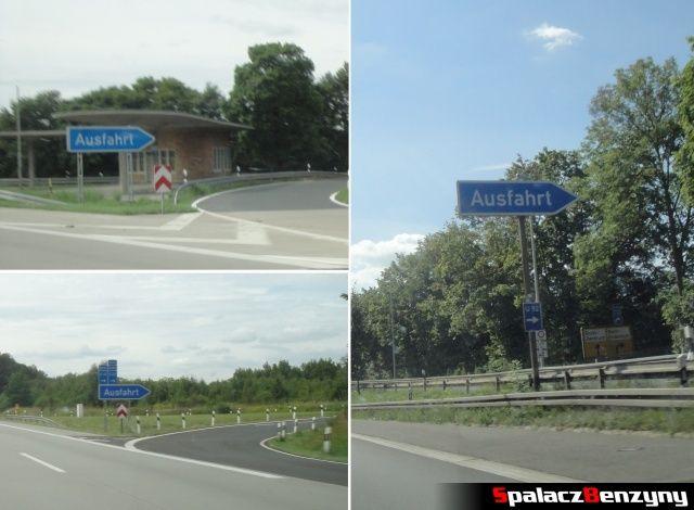 Ausfart na niemieckiej autostradzie