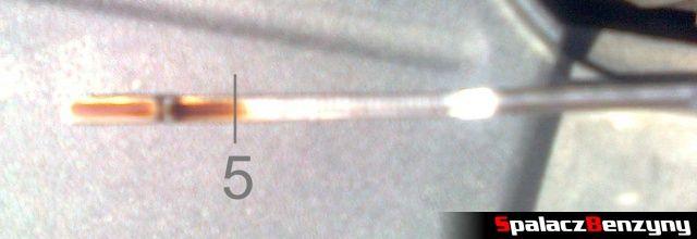 Bagnet serwisowy 4000 km po wymianie oleju na Millers 5w40