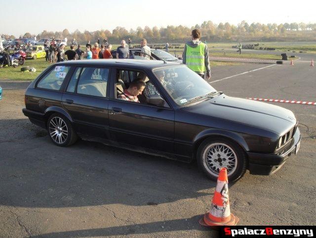 BMW 3 czarne combi na Rally Sprint Cemex 2012 w Lublinie