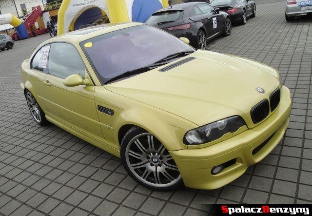 BMW M3 żółte  na TPTD 25 maj 2013