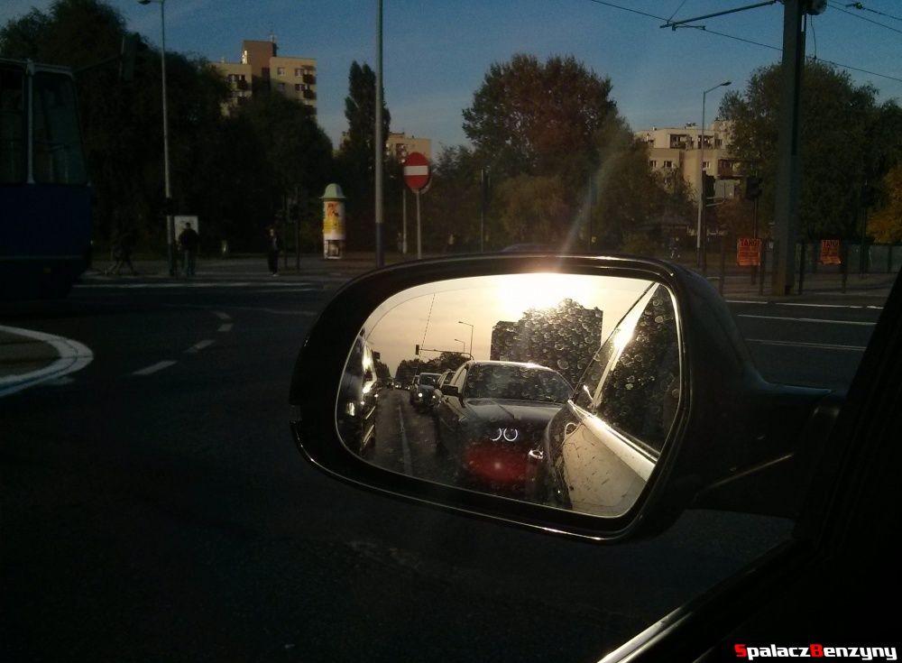 BMW w lusterku w Krakowie