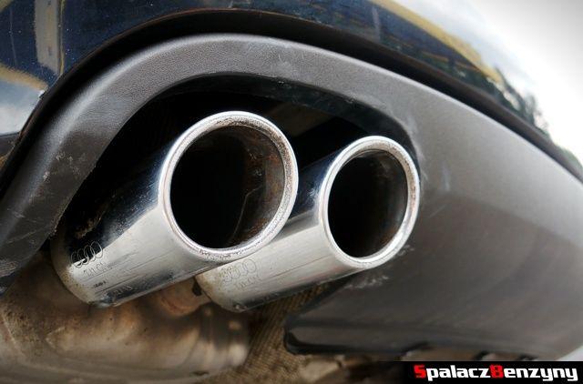 Chromowane końcówki wydechu Audi A4 B8