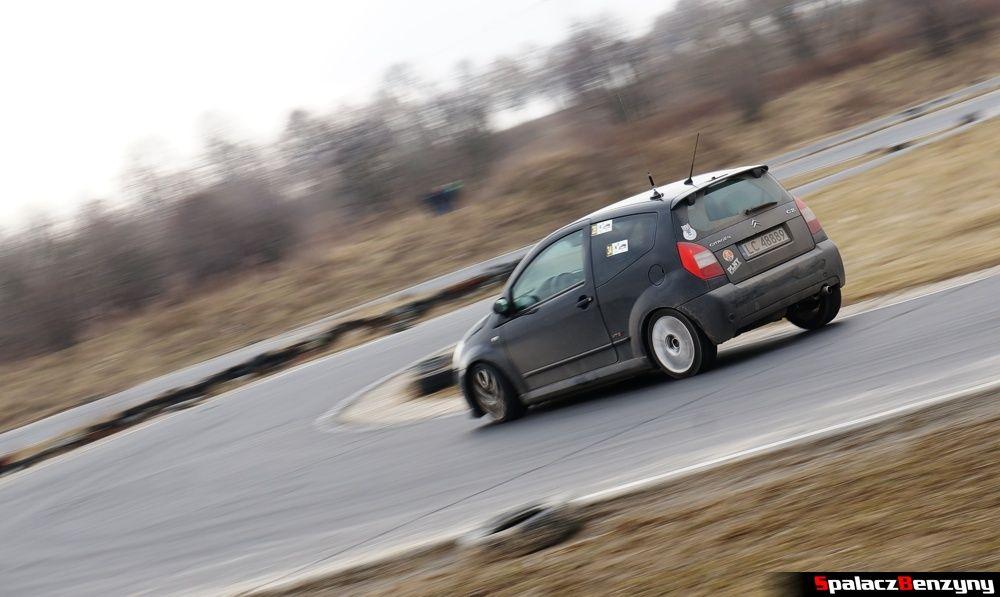 Citroen C2 zakręt na RS Kulig 2014 Tor Lublin