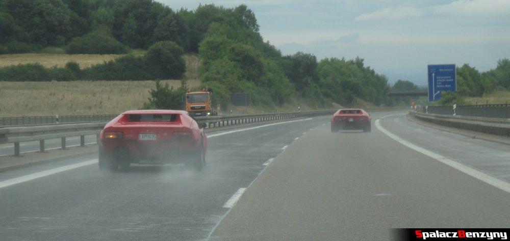 De Tomaso Pantera na autostradzie w Niemczech