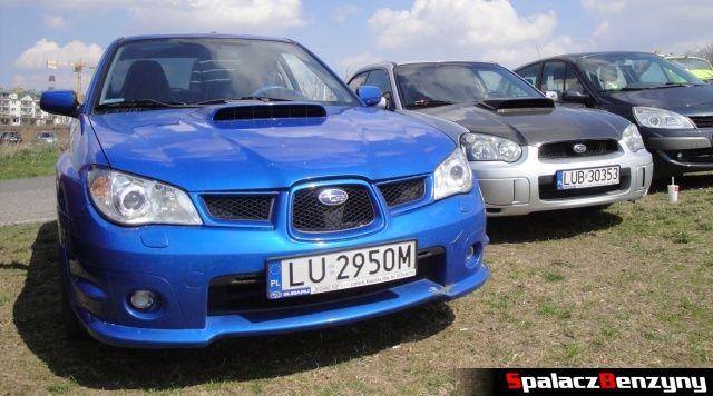 Dwa Subaru na Rally Sprint Kulka 2012 w Lublinie