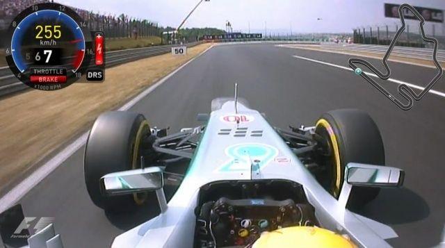 F1 onboard Hamilton