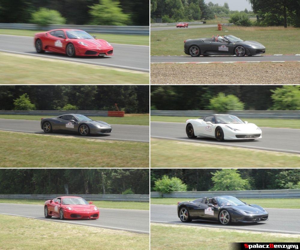 Ferrari różne modele na torze Poznań na Gran Turismo Polonia 2013