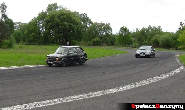 Fiat 126p i BMW na Rally Sprint w Biłgoraju 13 maj 2012