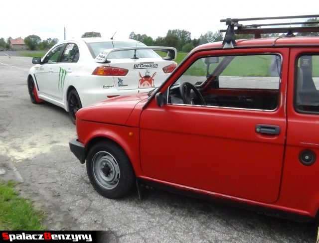 Fiat 126p i Evo na Rally Sprint w Biłgoraju 13 maj 2012