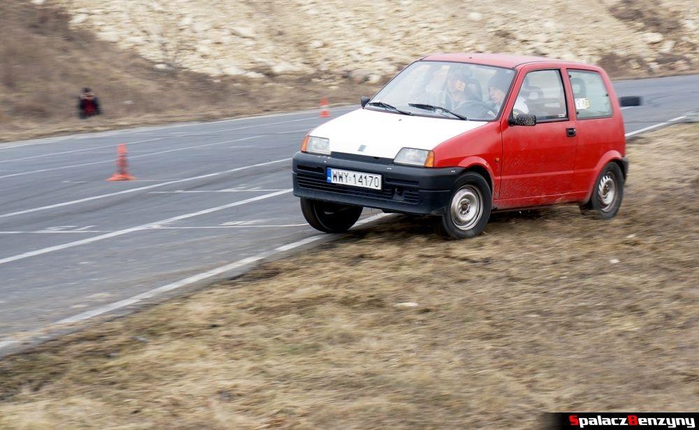Fiat CC czerwony na RS Kulig 2014 Tor Lublin