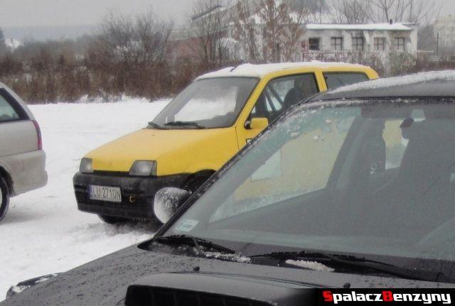 Fiat CC żółty na RS Rally na Torze w Lublinie 2013