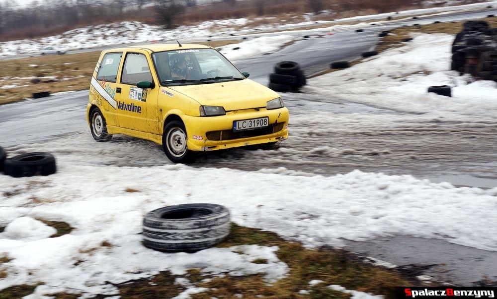 Fiat SC na śniegu na Rally Sprint 9 luty 2014