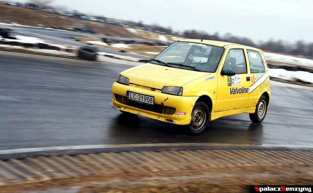Fiat SC w zakręcie na Rally Sprint 9 luty 2014