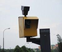 Fotoradar żółty stacjonarny puszka