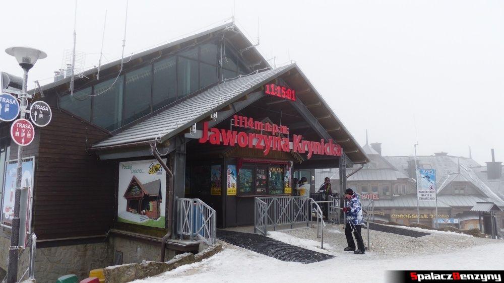 Górna stacja na Jaworzynie Krynickiej
