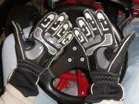 Gumowane wnętrze rękawic Sparco Arrow K-7