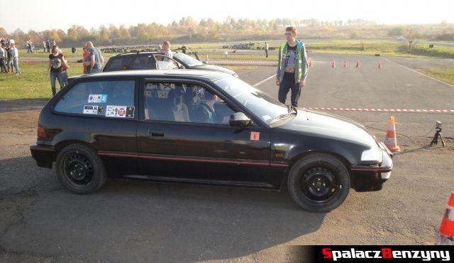 Honda Civic czarna 2 na Rally Sprint Cemex 2012 w Lublinie