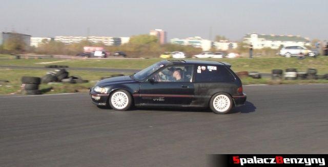 Honda Civic czarna 3 na Rally Sprint Cemex 2012 w Lublinie