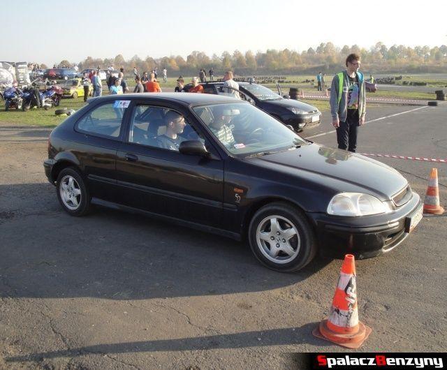 Honda Civic czarna 4 na Rally Sprint Cemex 2012 w Lublinie