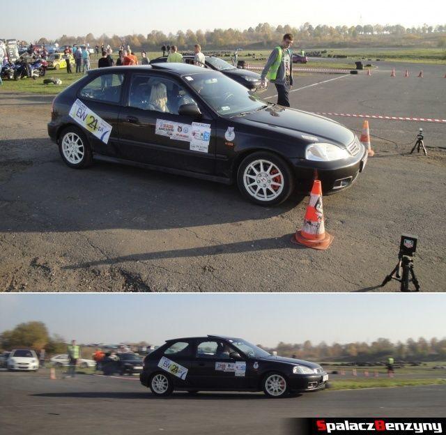 Honda Civic czarna na Rally Sprint Cemex 2012 w Lublinie