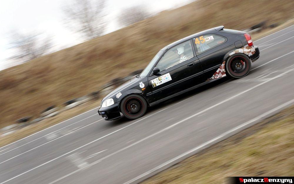 Honda Civic czarna na RS Kulig 2014 Tor Lublin