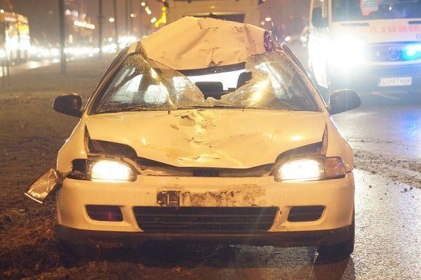 Honda Civic potrącenie al. Witosa Lublin