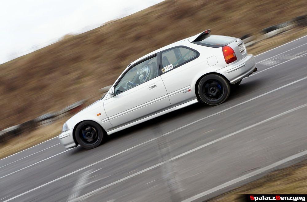 Honda Civic srebrna na RS Kulig 2014 Tor Lublin