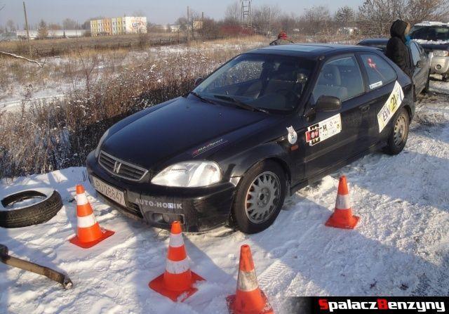 Honda Civic zielona na RS WOŚP na Torze w Lublinie 2013
