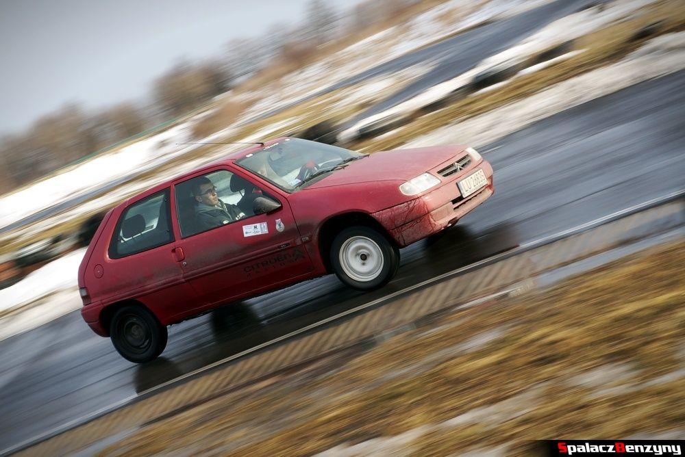 Jazda Citroen Saxo na Rally Sprint 9 luty 2014