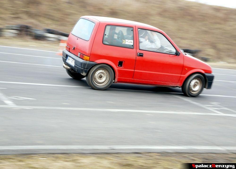 Jazda Fiat CC czerwony na RS Kulig 2014 Tor Lublin