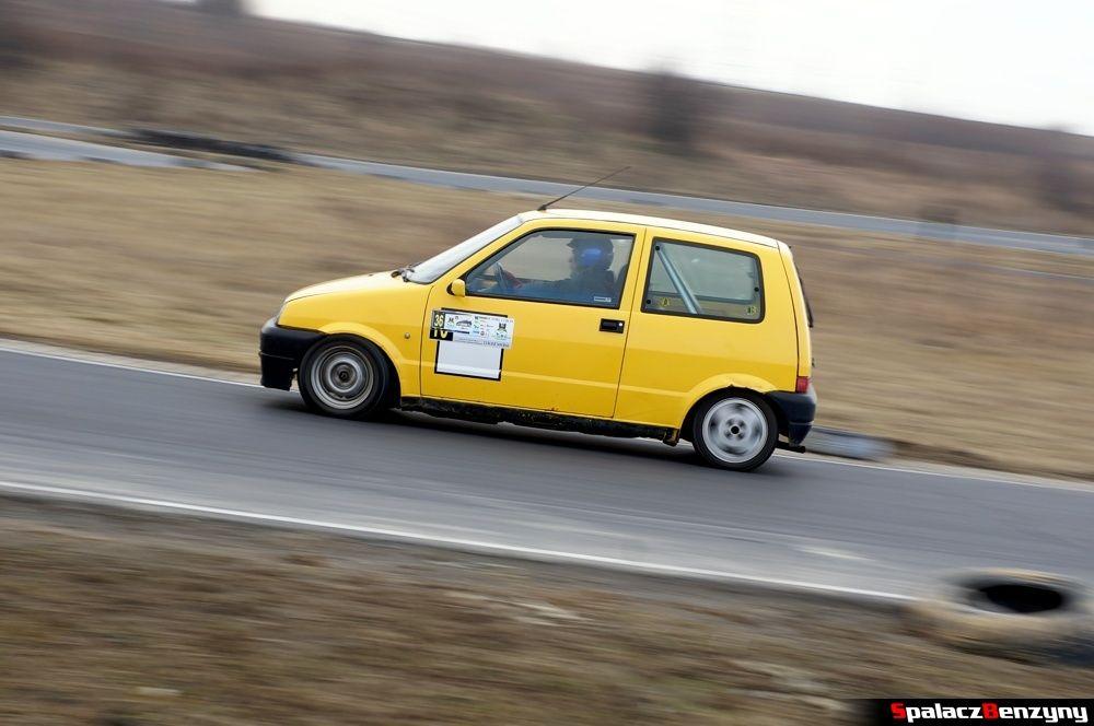 Jazda Fiat CC żółty na RS Kulig 2014 Tor Lublin