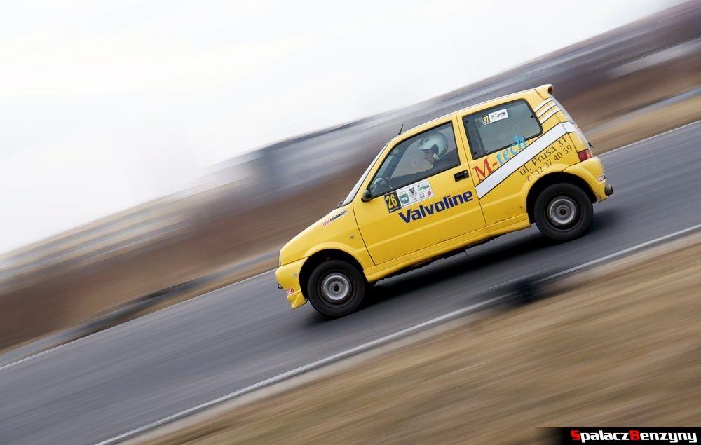 Jazda Fiat SC żółty na RS Kulig 2014 Tor Lublin