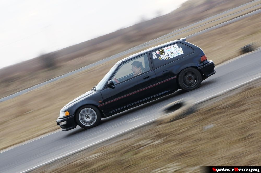 Jazda Honda Civic czarna na RS Kulig 2014 Tor Lublin