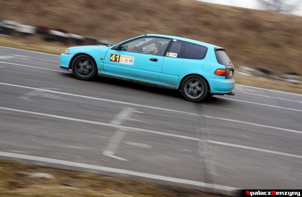 Jazda Honda Civic niebieska na RS Kulig 2014 Tor Lublin