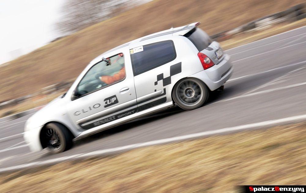 Jazda Renault Clio srebrne na RS Kulig 2014 Tor Lublin