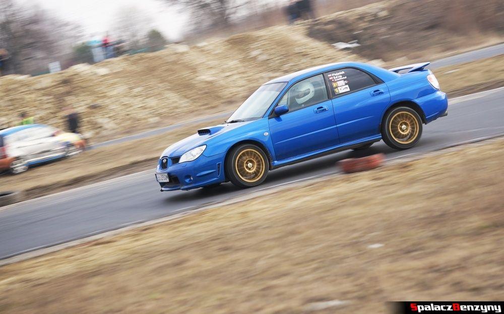Jazda Subaru Impreza WRX niebieskie na RS Kulig 2014 Tor Lublin