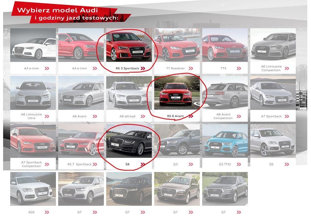 Jazdy testowe Audi 2015
