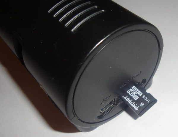 Karta microSD w rejestratorze trasy